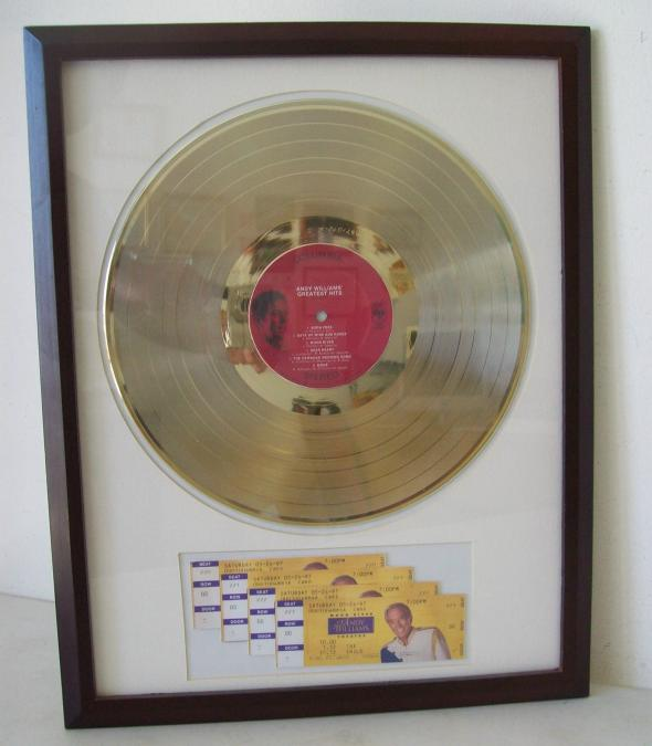 Gouden plaat Lp Andy Williams Greatest hits