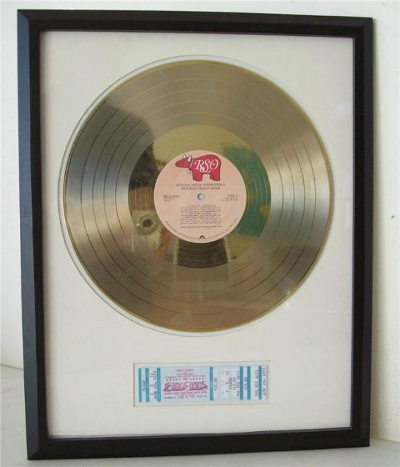 Gouden plaat Lp Bee Gees - Saturday night fever Movietrack