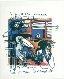 Herman Brood litho Black Crowes