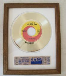 Gouden plaat single Beatles I want To hold your hand