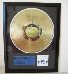 Gouden plaat Lp The Beatles Help