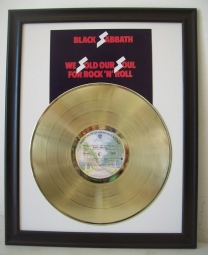 Gouden plaat LP Black Sabbath - We Sold our Soul for Rock and Roll