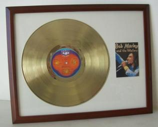 Gouden plaat LP Bob Marley and the Wailers