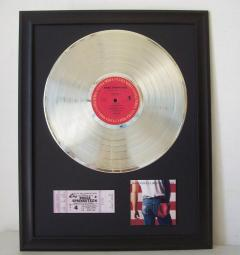 Platina plaat Bruce Springsteen - Born in the Usa