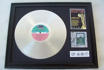 Platina plaat Led Zeppelin ZoSO