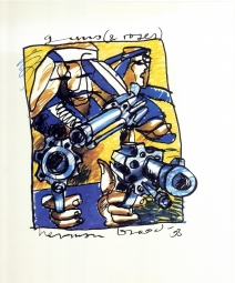 Herman Brood litho Guns and Roses