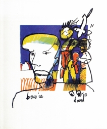 Herman Brood litho David Bowie