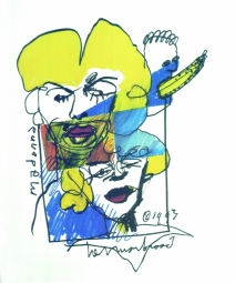 Herman Brood litho Madonna