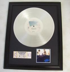 Platina plaat The Eagles - Hotel California