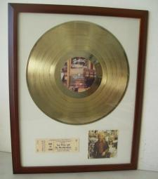 Gouden plaat LP Tom Petty Hard Promises