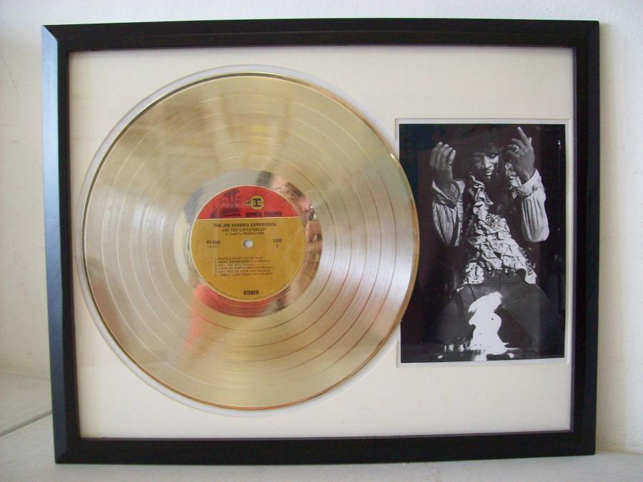 Gouden plaat LP Jimi Hendrix Experience