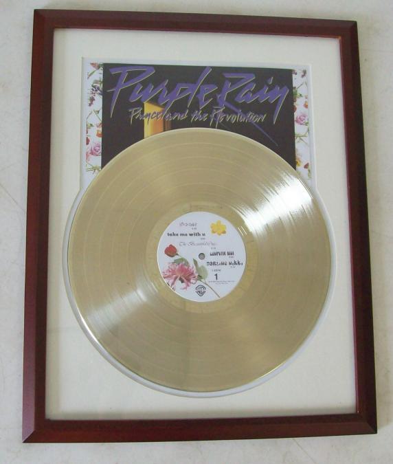 Gouden plaat Lp Prince Purple rain