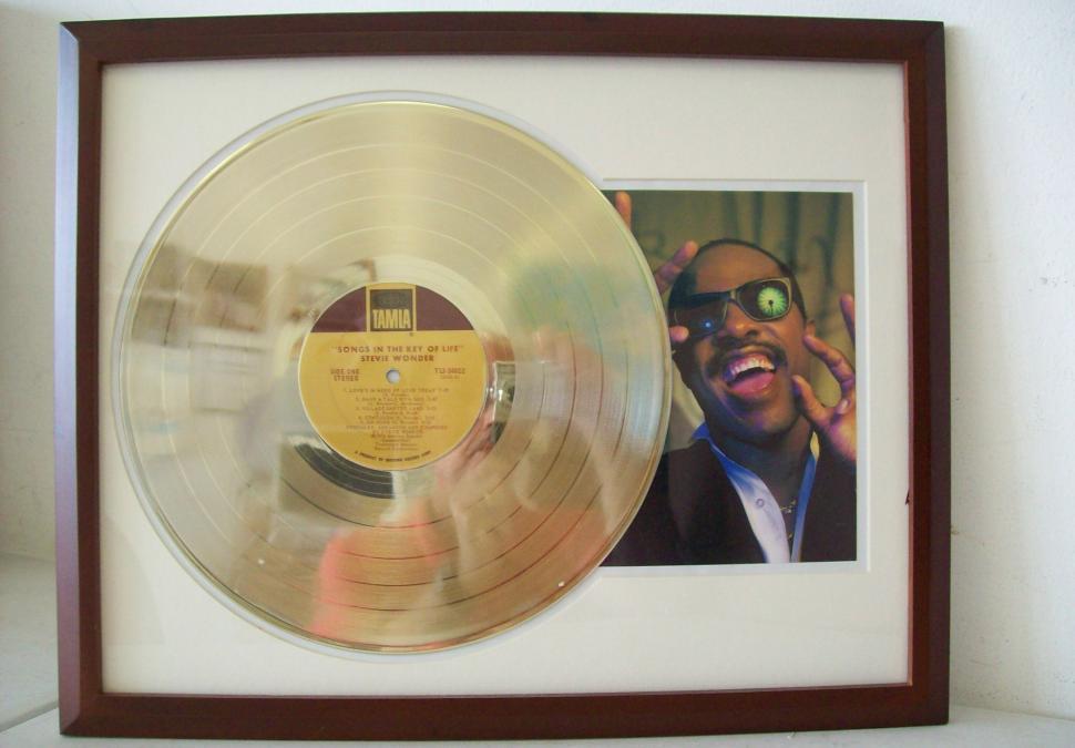 Gouden plaat Lp Stevie Wonder - Songs in the key of Life